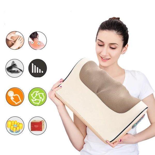 Coussin de Massage : Éliminer Diverses Tensions et Stress - or à six boutons