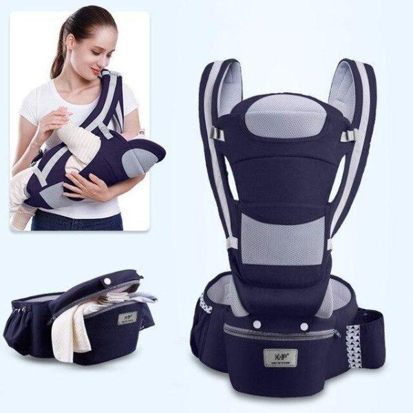 v 4 season dark blue 560392249 Porte-bébé Ergonomique : Protéger la Colonne Vertébrale de Votre Bébé