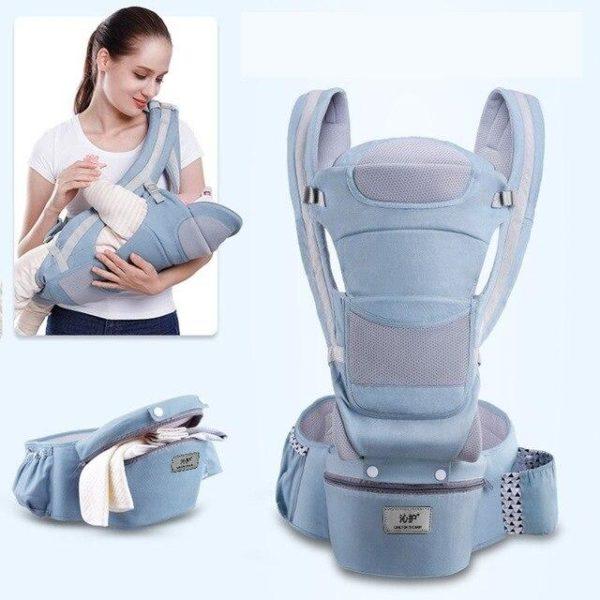 Porte-bébé Ergonomique : Protéger la Colonne Vertébrale de Votre Bébé - Bleu clair