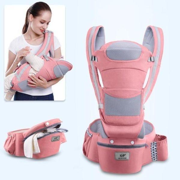 Porte-bébé Ergonomique : Protéger la Colonne Vertébrale de Votre Bébé - Rose