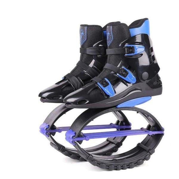 Kangourou Chaussures Sauteuses : Améliorer La Santé Cardiovasculaire - Noir-bleu-Taille 39-41 cm
