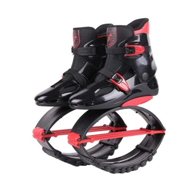 Kangourou Chaussures Sauteuses : Améliorer La Santé Cardiovasculaire - Noir-rouge-Taille 42-44 cm