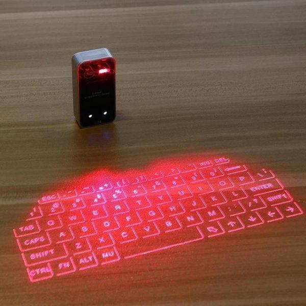 Clavier De Projection Sans Fil De De Laser : Prend En Charge Usb Et Bluetooth - Noir