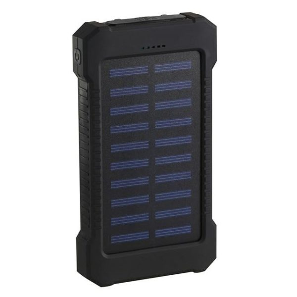 Batterie de Secours Solaire : Puissant, Léger et Compact 20000 mAh - Noir