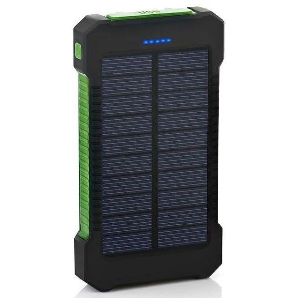 v Green 2135039526 Batterie de Secours Solaire : Puissant, Léger et Compact 10000 mAh