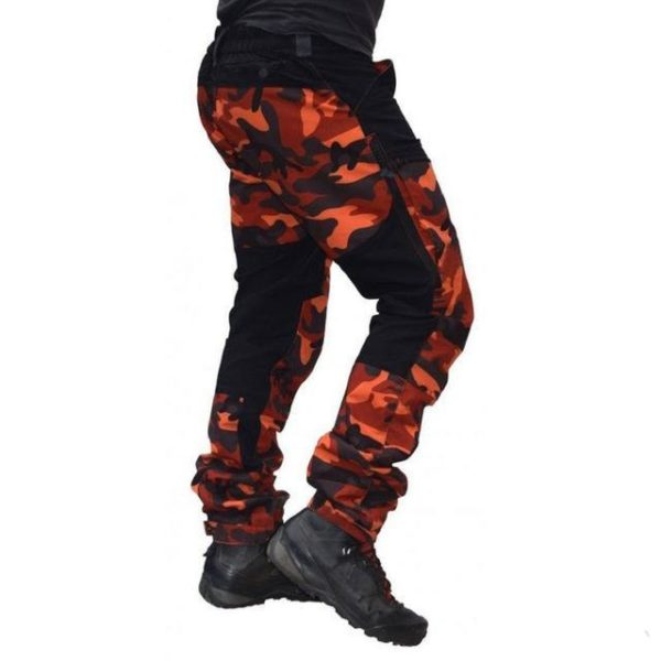 Pantalon Casual Camouflage: Respirant Et Confort Incroyable - Orange / M(106.5 cm)
