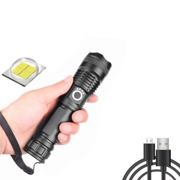 v Package A 1725646455 Lampe De Poche Portable: Permet Un Éclairage Ultra Puissant Même Dans Le Noir Le Plus Complet