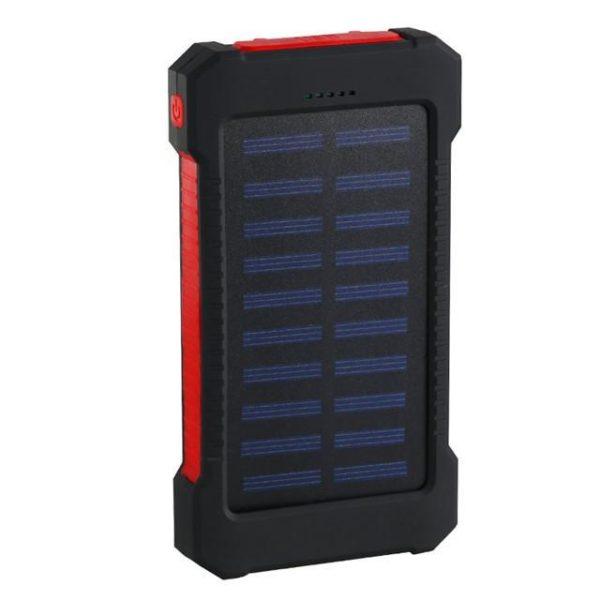 Batterie de Secours Solaire : Puissant, Léger et Compact 20000 mAh - Rouge