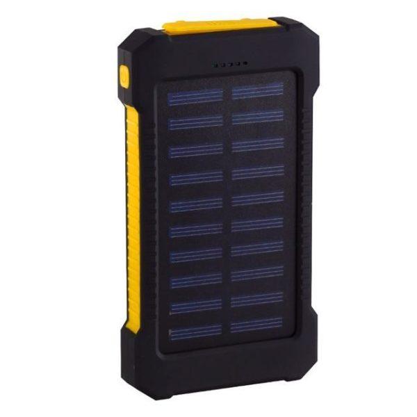 Batterie de Secours Solaire : Puissant, Léger et Compact 20000 mAh - Jaune