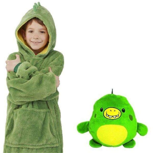 v opp bag green 1208952401 Sweat À Capuche en Forme D'Animal Familier : Sweat-Shirt Portatif et Chaud