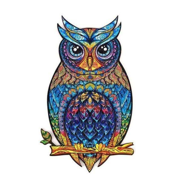 v owl shaped jigsawA5 1554978083 Puzzles D'animaux En Bois: Un Jeu Passionnant Qui Convient Aux Enfants Et Aux Adultes