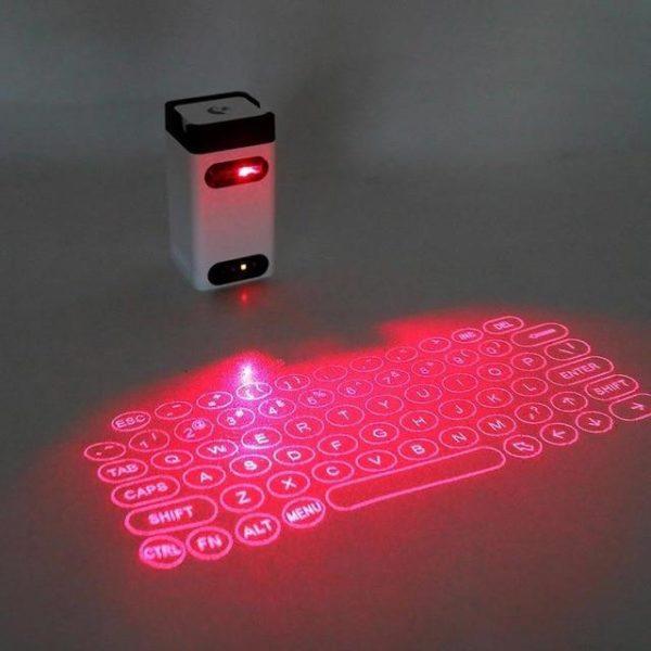 v white M1 610111051 Clavier De Projection Sans Fil De De Laser : Prend En Charge Usb Et Bluetooth
