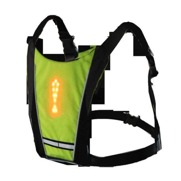 v yellow 2061086539 Sécurité Gilet de Cyclisme à LED : Rechargeable par USB
