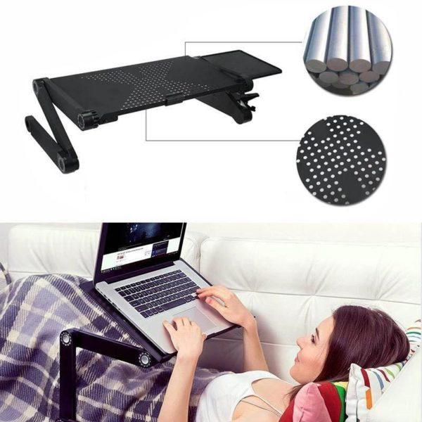 verstellbarer Laptop Schreibtisch 5 1024x1024 a0570179 d695 4658 aedd 63dc656bf467 Support Portable : Support Ordinateur Portable Pliable et léger (Mouse pad included)