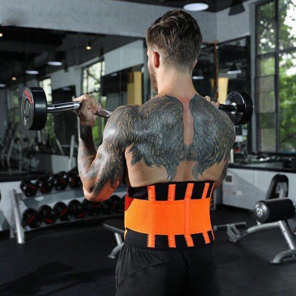 waist support belt back corset belt gymn main 2 Slimming Belt: Seinture de Sudation Qui Brûle Les Graisses du Ventre en Ciblant L'abdomen