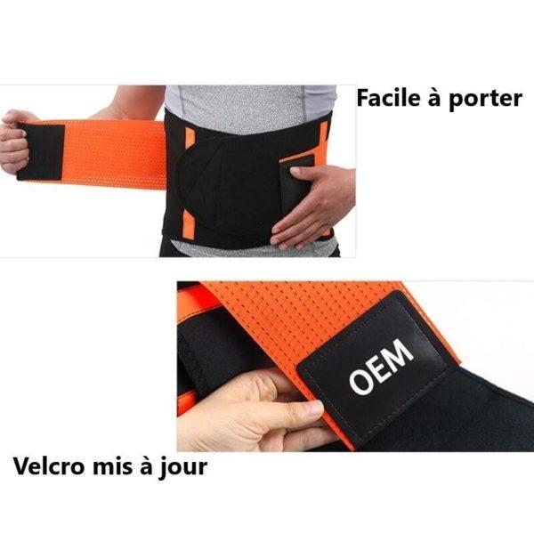 waist support belt back corset belt gymn main 4 Slimming Belt: Seinture de Sudation Qui Brûle Les Graisses du Ventre en Ciblant L'abdomen