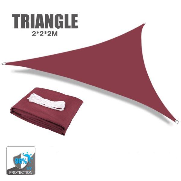 Auvent de voile d'ombrage triangle rouge
