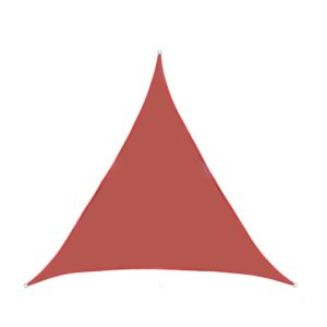 Toile ombrage triangulaire 3m rouge