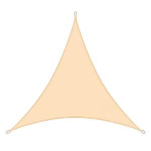 Voile d'ombrage anti uv 3x3x3 beige