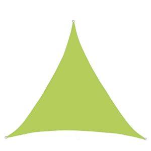 Voile d'ombrage triangulaire verte 3x3x3