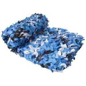 Filet de camouflage militaire bleu aux couleurs de la Marine