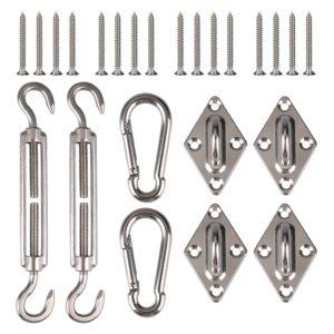 Accessoires pour auvent en acier inoxydable