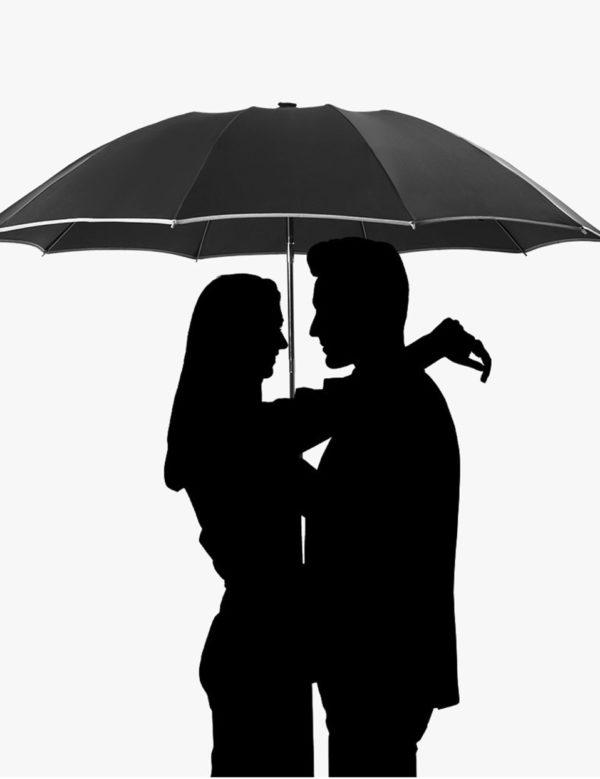 Parapluie avec rayures réfléchissantes