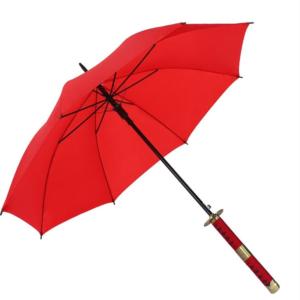Parapluie samouraï rouge