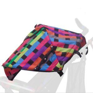 Ombrelle poussette multicolore