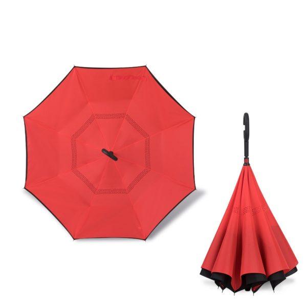 Parapluie inversé rouge