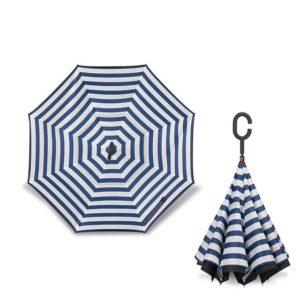 Parapluie inversé naval stripe