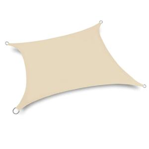 Voile d'ombrage rectangulaire avec œillets