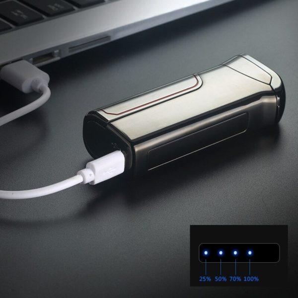 Briquet Électrique USB avec Charge Intelligente Branché