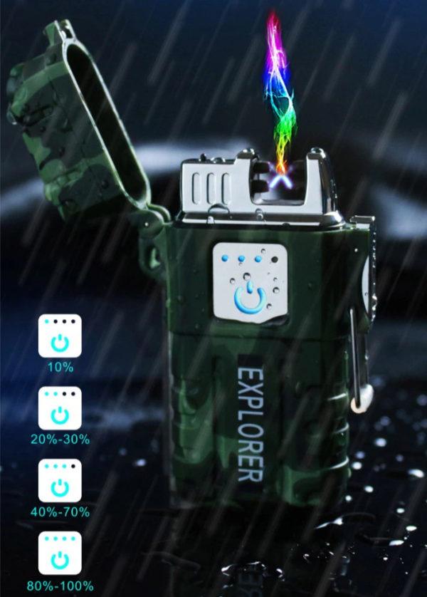 Briquet Survivaliste Électrique Imperméable Baterie