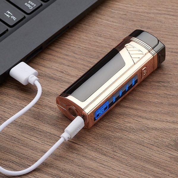 Briquet Tempête USB à Double Arcs Branché