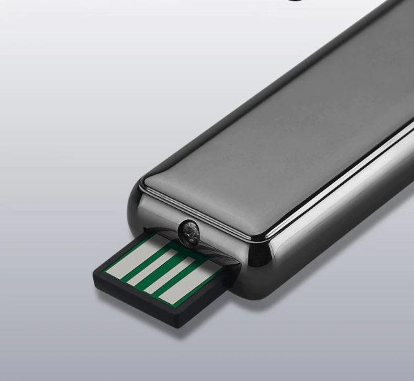 Briquet USB Allumage Silencieux à l'Épreuve du Vent USB
