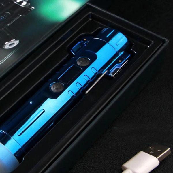 Briquet USB Cylindrique à Double Arc Boîte