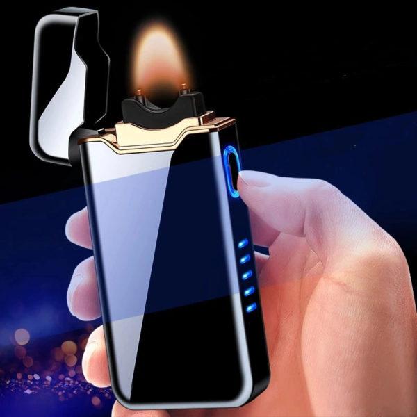 Briquet USB Plasma Affichage LED Allumé