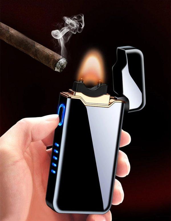 Briquet USB Plasma Affichage LED Cigare