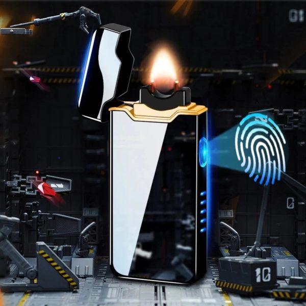 Briquet USB Plasma Affichage LED Tactile