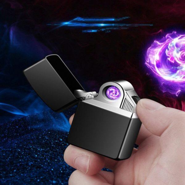 Briquet USB Rotatif Électrique Plasma Allumé