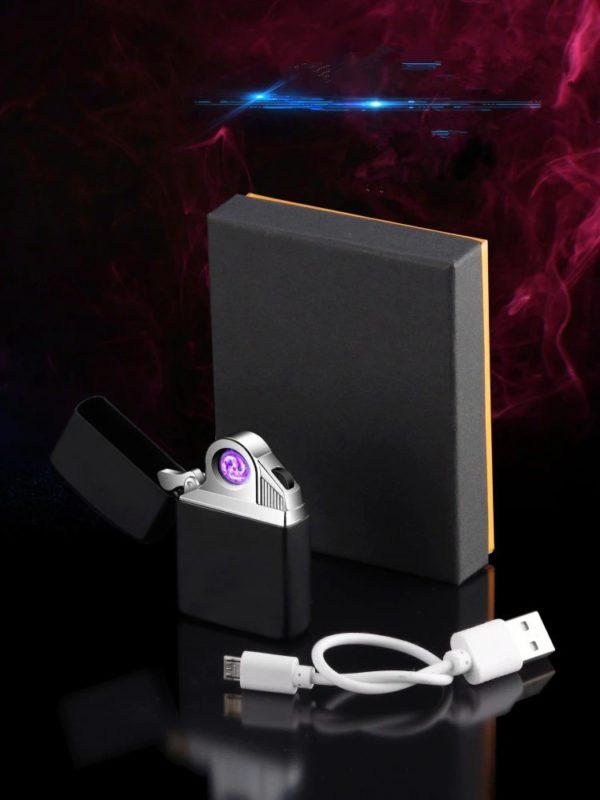 Briquet USB Rotatif Électrique Plasma Boîte