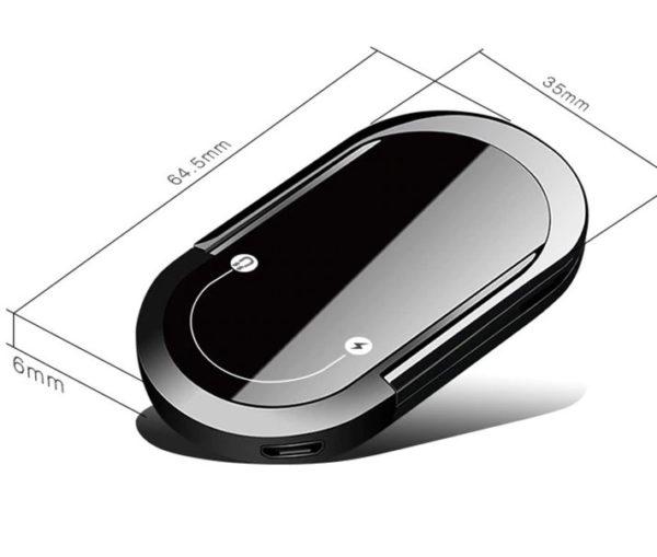 Briquet USB avec Anneaux pour Téléphone Taille