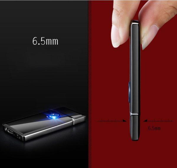 Briquet USB en Alliage de Zinc Ultra Fin 6.5mm