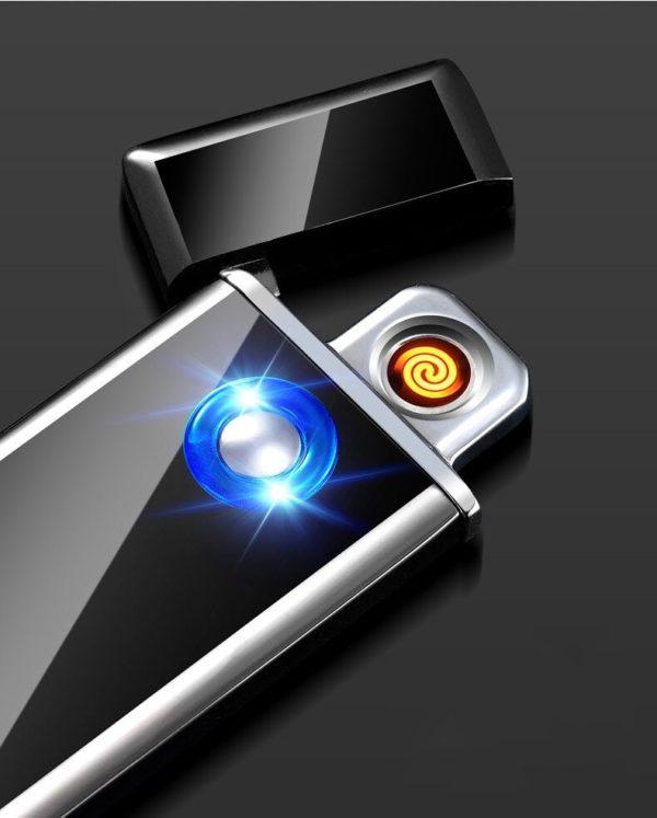 Briquet USB en Alliage de Zinc Ultra Fin Allumé