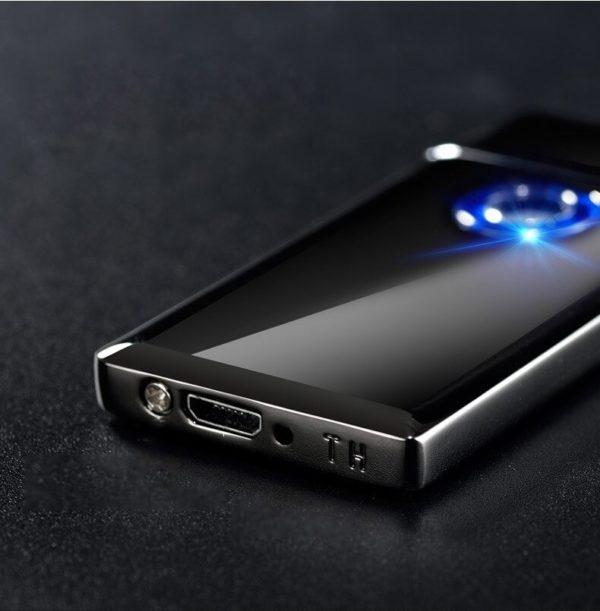 Briquet USB en Alliage de Zinc Ultra Fin Bouton