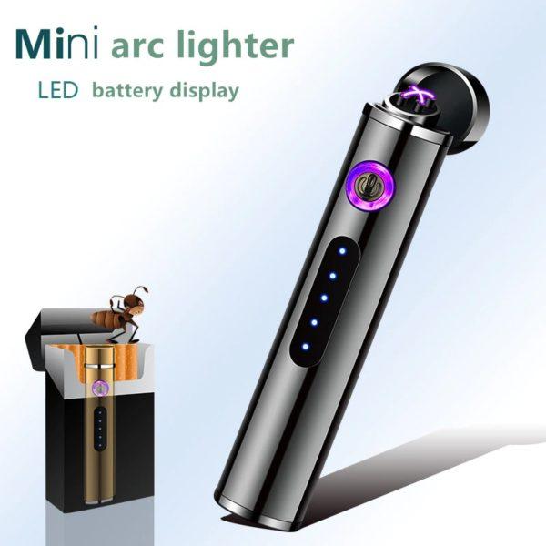 Mini Briquet USB Cylindrique Rechargeable Taille