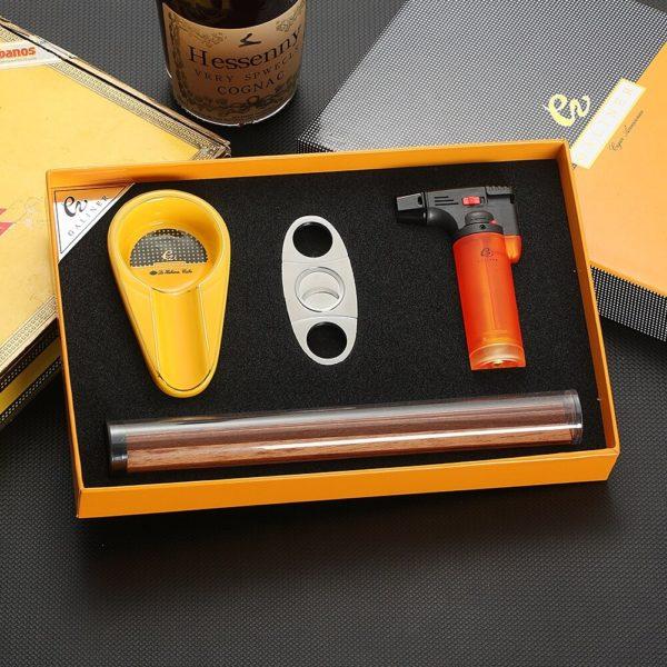 Set Briquet GALINER Coupe-Cigare et Cendrier Coffret