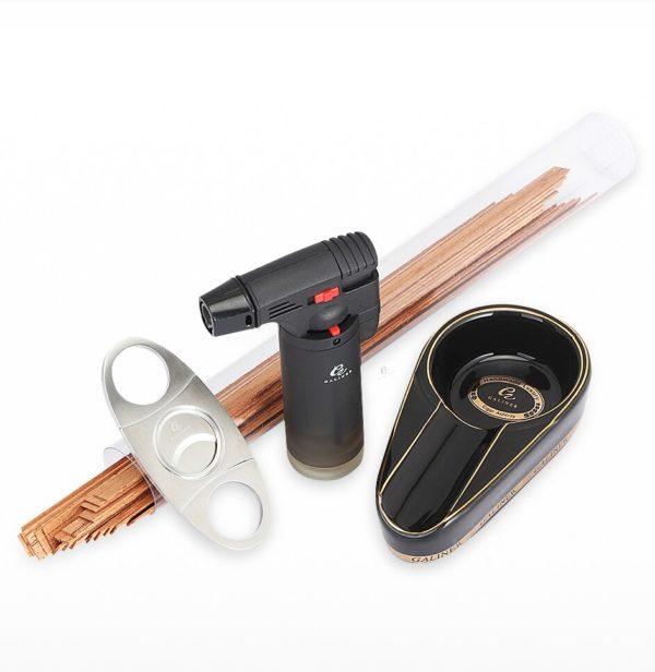 Set Briquet GALINER Coupe-Cigare et Cendrier Kit