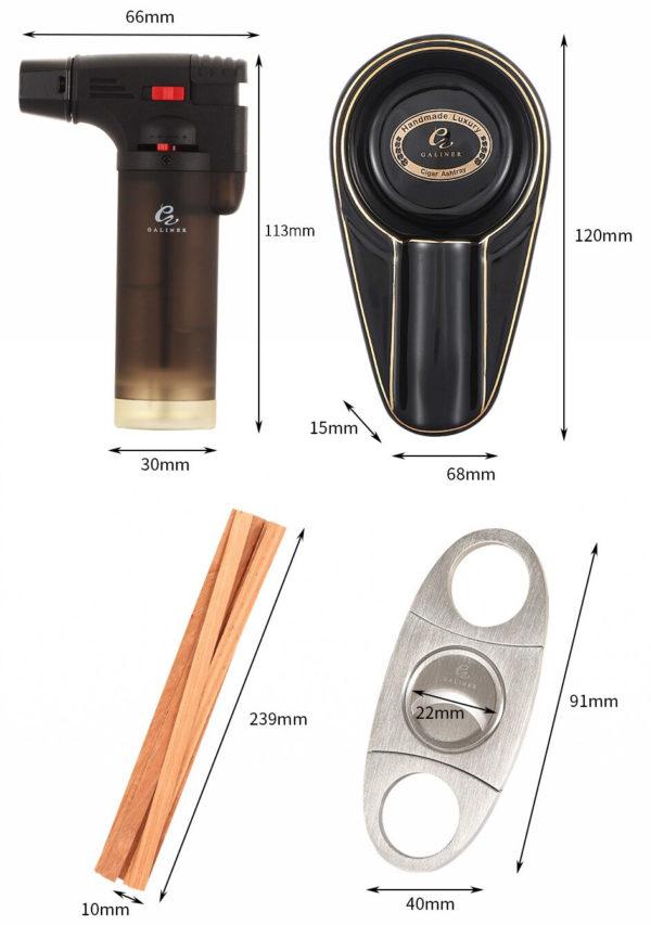 Set Briquet GALINER Coupe-Cigare et Cendrier Taille